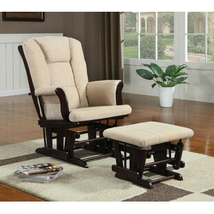 Mald Mom Baby Nursing Manual Glider Recliner with Ottoman by Harriet Bee
