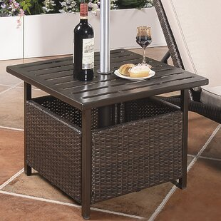 Mercedes Wicker Steel Side Table