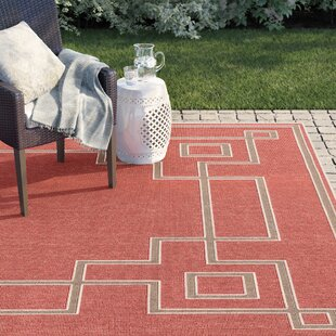 Amherst Rust/Beige Indoor/Outdoor Area Rug