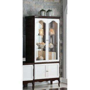 Alcott Hill Conley Double Glass Door Wooden Curio Cabinet