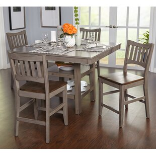 Gabler 5 Piece Pub Table Set by August Grove