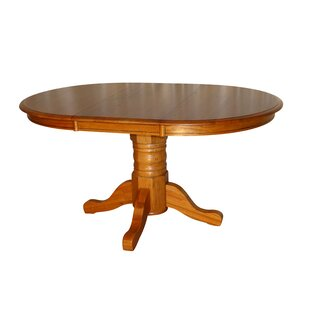 Cade Solid Oak Solid Wood Dining Table by Loon Peak Design