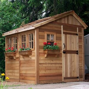 Garden Sheds 7 X 9 wood storage sheds you'll love | wayfair