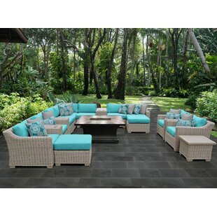 TK Classics Coast 17 Piece Sectional Set with Cushions