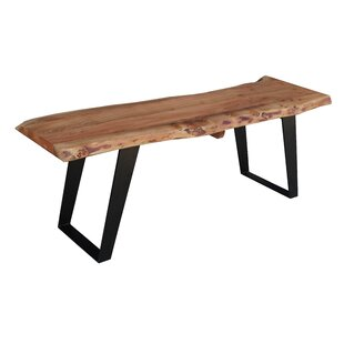 Odette Wood Bench by Millwood Pines