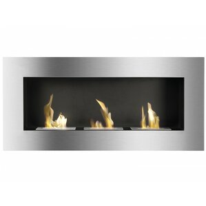 Optimum Wall Mount Ethanol Fireplace by Ignis Products