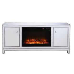 Affordable Price Laylah Mirrored TV Stand for TVs up to 60 with Fireplace by House of Hampton Reviews (2019) & Buyer's Guide