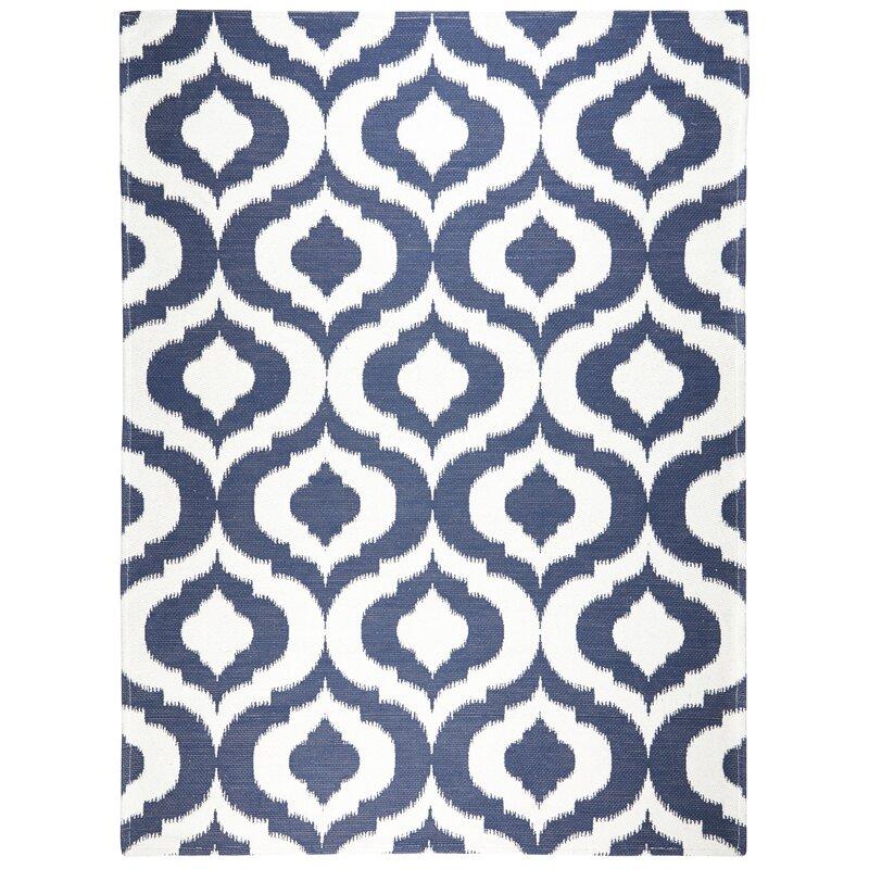 Trina Turk Geometric Navy Blue White
