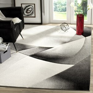 Anne Abstract Gray/Dark Gray Area Rug