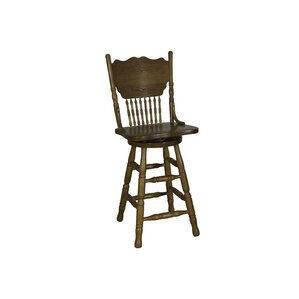 Acadian Swivel Bar Stool by Alcott Hill