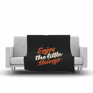 Read Reviews Juan Paolo Enjoy the Little Things Vintage Fleece Blanket By East Urban Home