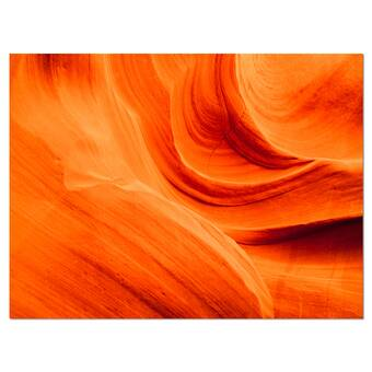 East Urban Home Lower Antelope Slot Canyon In Reflected Sunlight Photographic Print On Wrapped Canvas Wayfair