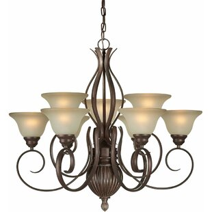 Charlton Home Daphne 9-Light Shaded Chandelier