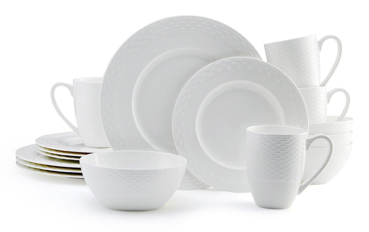 Ortley 16 Piece Dinnerware Set Service for 4  sc 1 st  Wayfair & Mikasa Ortley 16 Piece Dinnerware Set Service for 4 \u0026 Reviews   Wayfair
