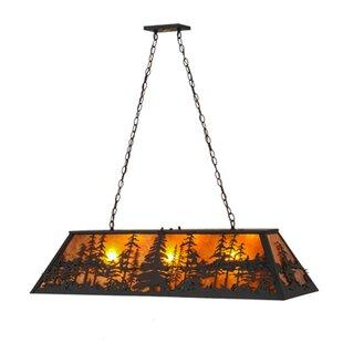 Meyda Tiffany Tall Pines 3-Light Pool Table Lights Pendant