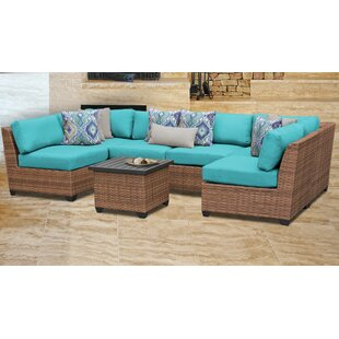 Medina Outdoor 7 Piece Sectional Seating Group with Cushions