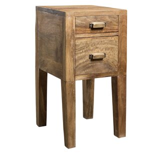 Solis 2 Drawer End Table by Loon Peak New