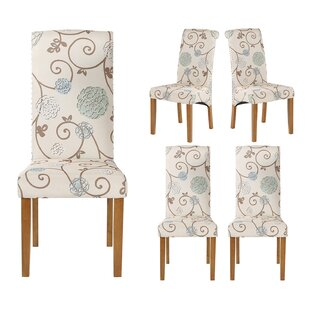 Laurius Linen Upholstered Parsons Chair in White Set of 6 by Red Barrel Studio