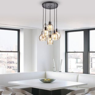 Pruett 6-Light Cluster Pendant by Gracie Oaks