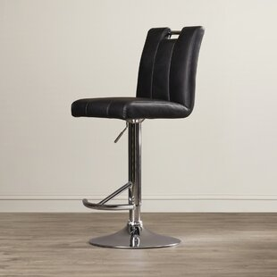 Sebastian Adjustable Height Swivel Bar Stool Latitude Run