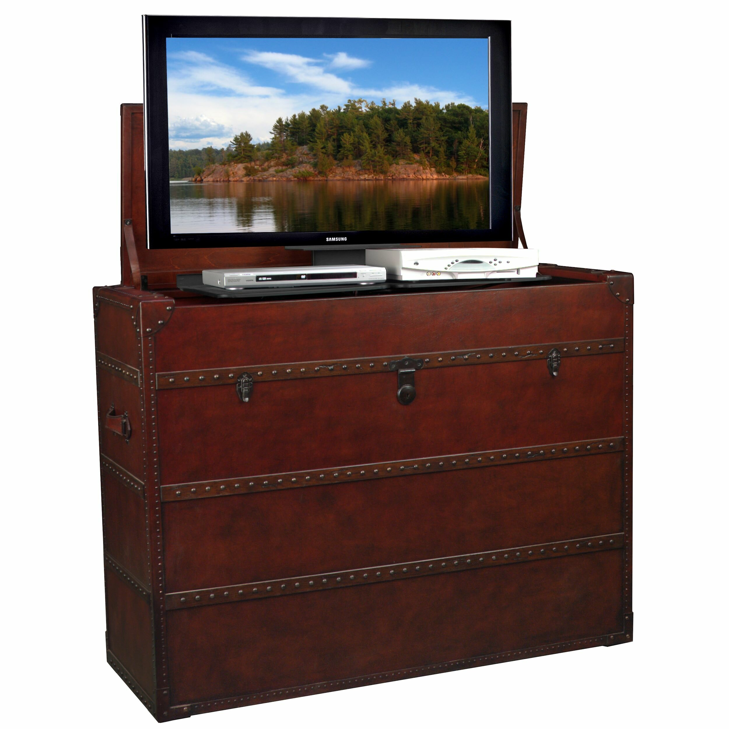 surprise home pedestal stand lovely shaped design cabinet bench announcing tv www ideas on l buy with