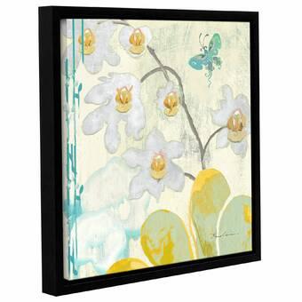 One Allium Way Soft Orchid 4 Piece Floater Frame Print Set On Canvas Wayfair