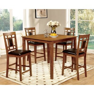 Yerger 5 Piece Counter Height Dining Set