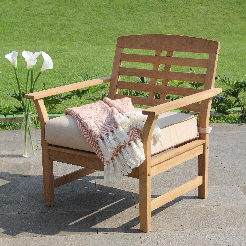 birch lane heritage calila teak patio chair with cushions birch lane rh birchlane com teak wood patio chairs teak patio chairs discount