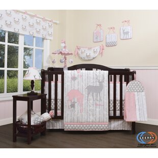 Three Lakes Baby Deer Family Nursery 13 Piece Crib Bedding Set