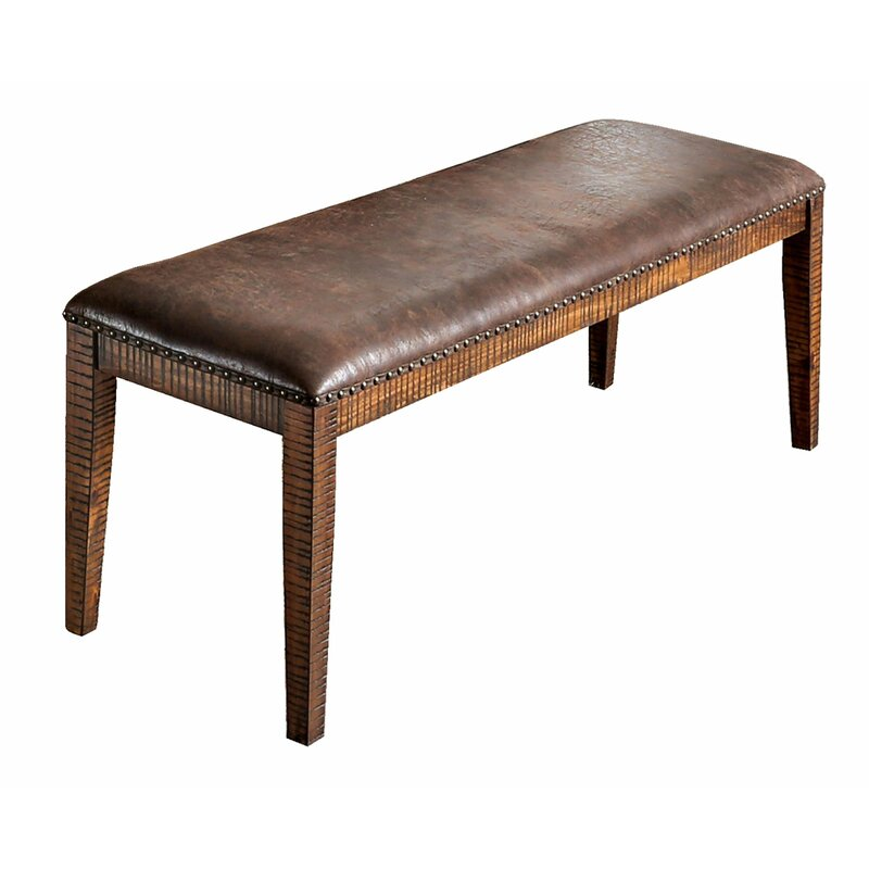 Union Rustic Agustine Faux Leather Bench Wayfair