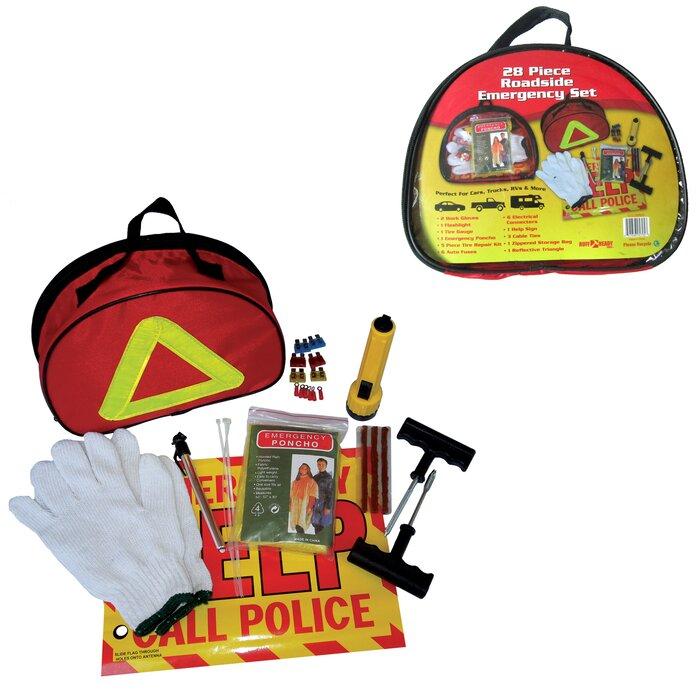 Natico 28-Piece Roadside Emergency Set