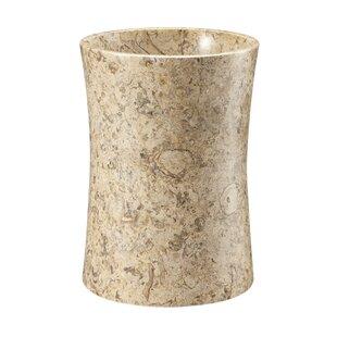 Fleur De Lis Living Root Fossil Stone 1.5 Gallon Waste Basket