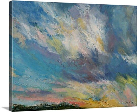 great big canvas clouds at sunset by michael creese painting print wayfair wayfair com