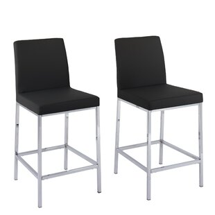 Onya Leatherette Bar Stool (Set of 2)