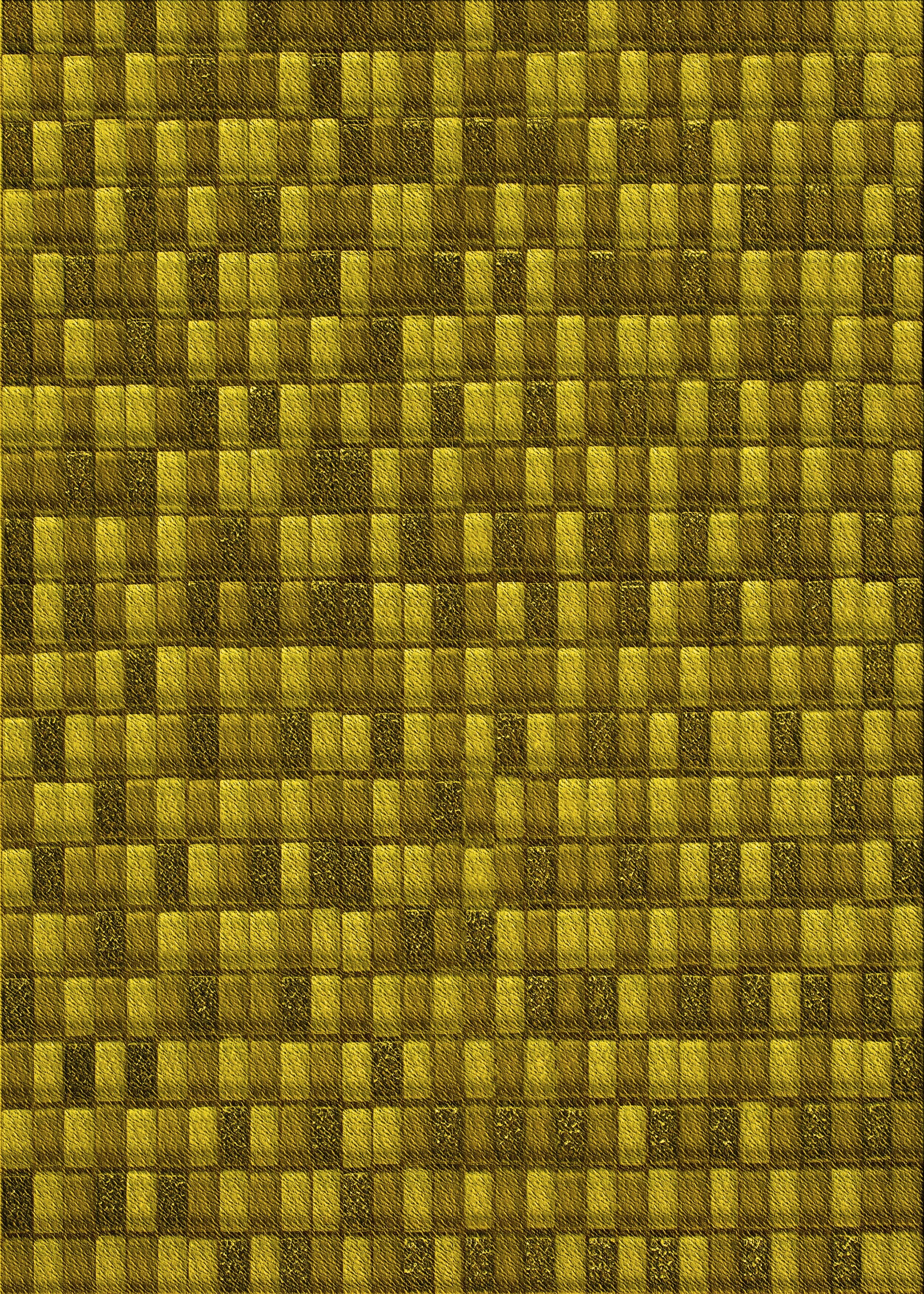 East Urban Home Geometric Wool Yellow Area Rug