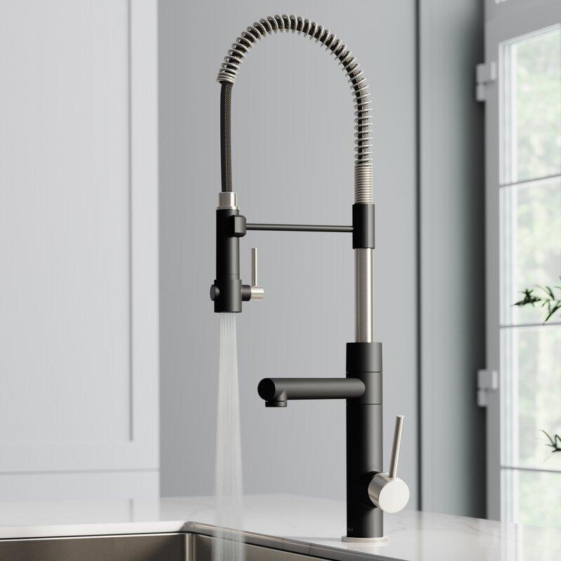 Superb Artec Pro 2 Function Pull Down Single Handle Kitchen Faucet Interior Design Ideas Gentotthenellocom