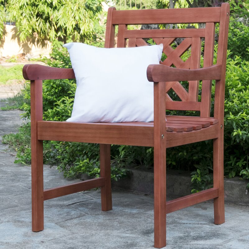 Stephenie Plaid Patio Dining Chair