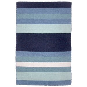 Ranier Hand-Woven Blue Indoor/Outdoor Area Rug