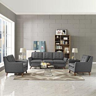 George Oliver Binder 3 Piece Living Room ..