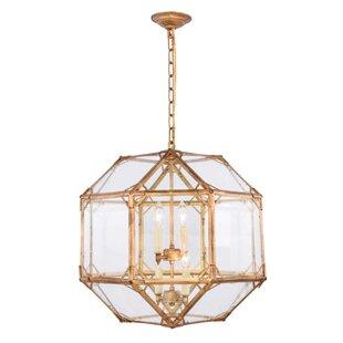 Puccio 4-Light Geometric Chandelier by One Allium Way