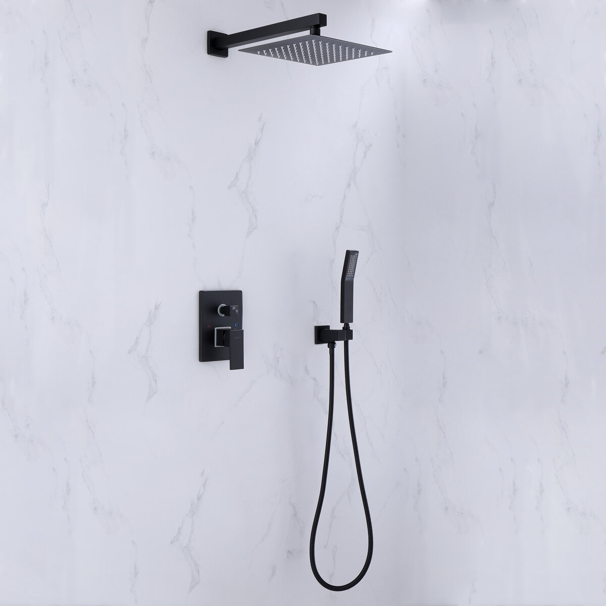 Watqen Temperature Control Complete Shower System With Rough In Valve Reviews Wayfair Ca
