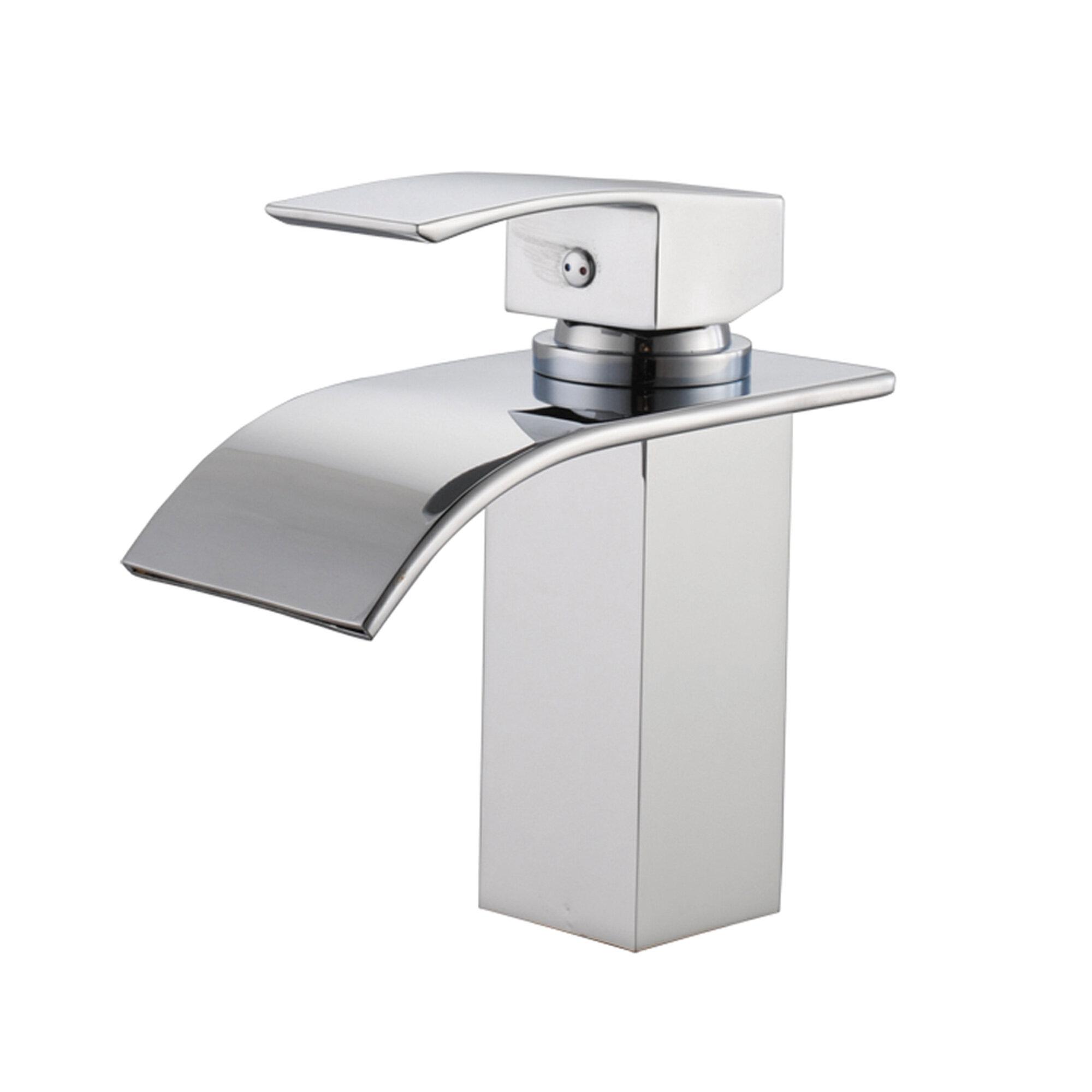 Deck Mount Waterfall Bathroom Sink