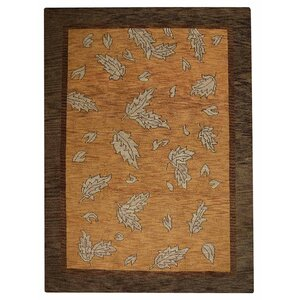 Rugsotic Hand-Knotted Gold/Brown Area Rug