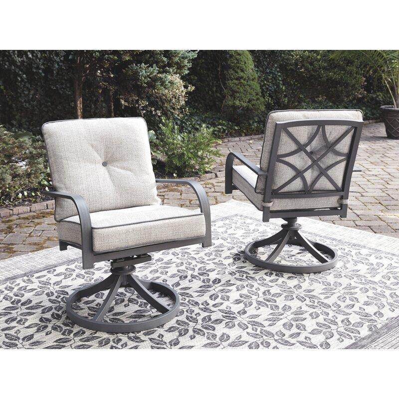Canora Grey Anguiano Swivel Patio Chair