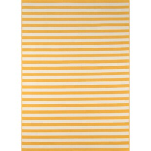 Halliday Yellow/White Indoor/Outdoor Area Rug