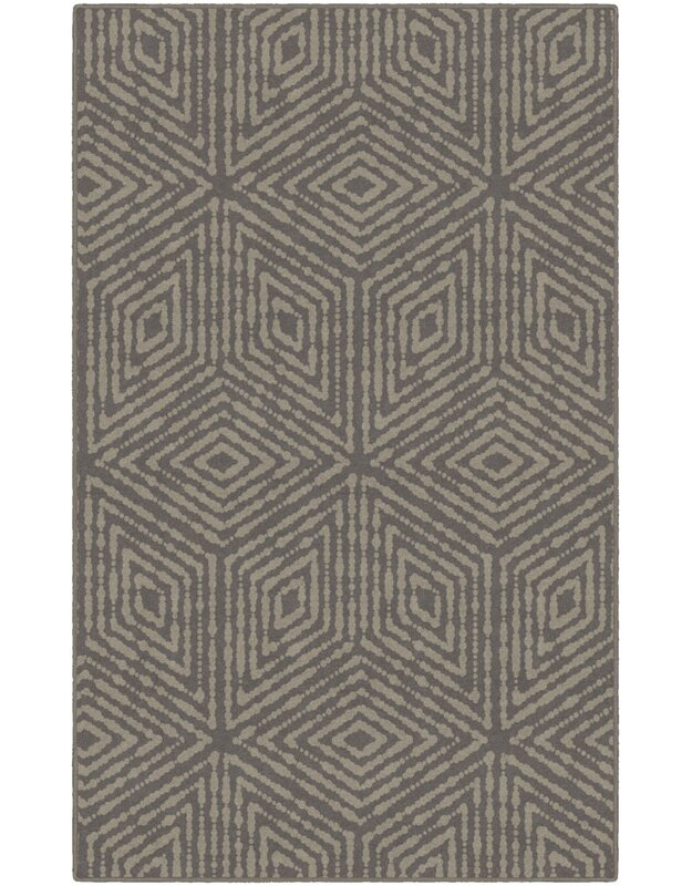 World Menagerie Meyer Diamonds Geometric Brown Area Rug, Size: Rectangle 76 x 10