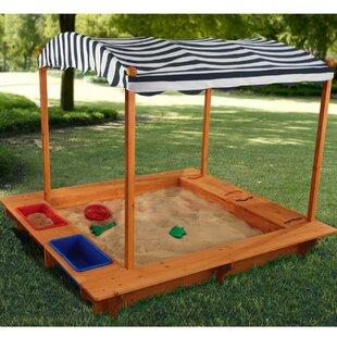 Outdoor 163.2cm Rectangular Sandbox By KidKraft