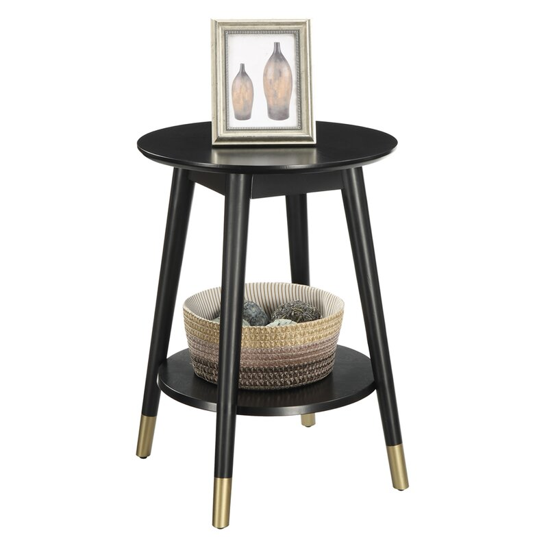 Turn on the Brights  Makenna End Table Color: Black