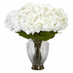 Hydrangea Centerpiece in Decorative Vase byNearly Natural