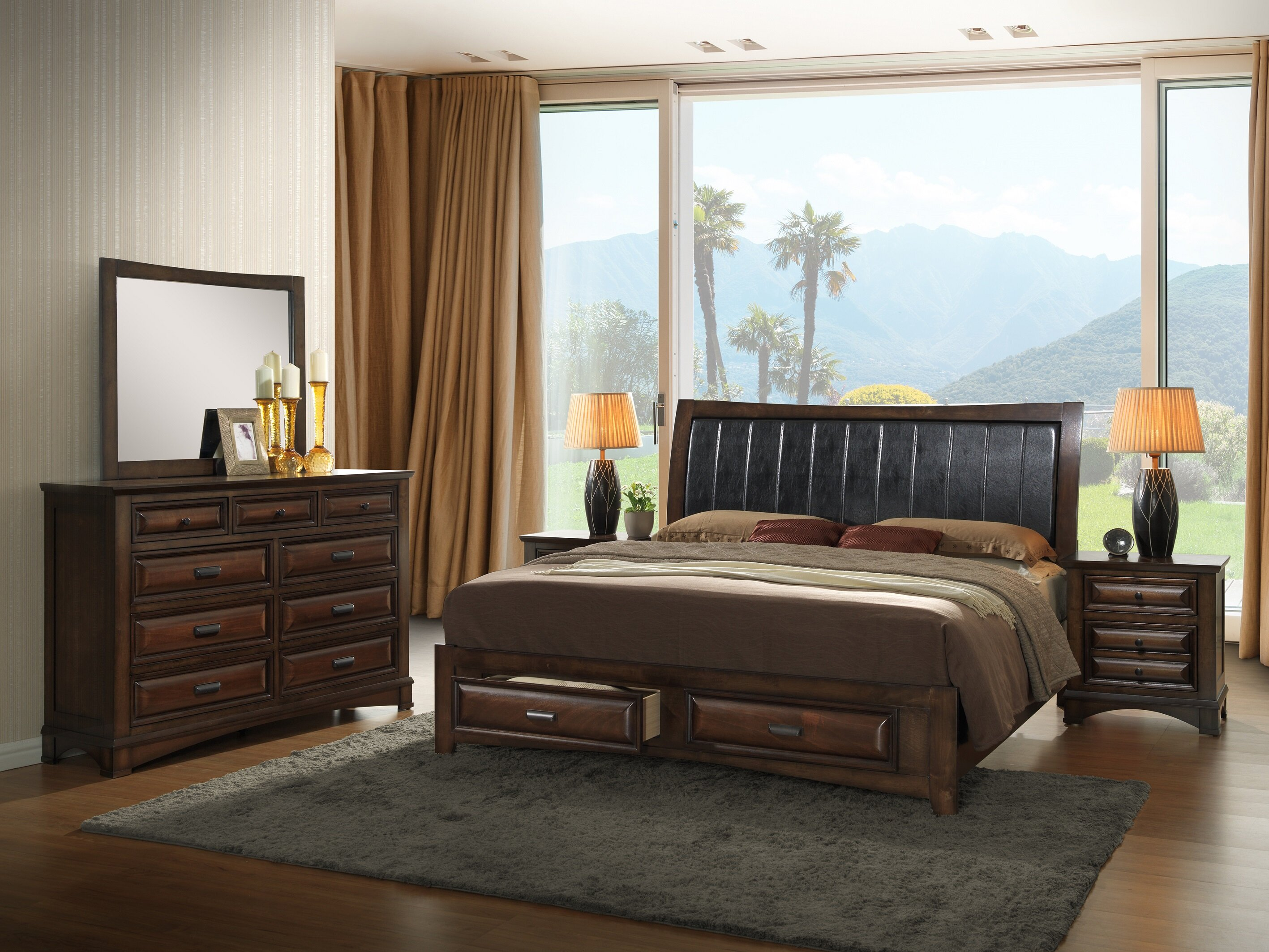 North Adams King Platform 5 Piece Bedroom Set